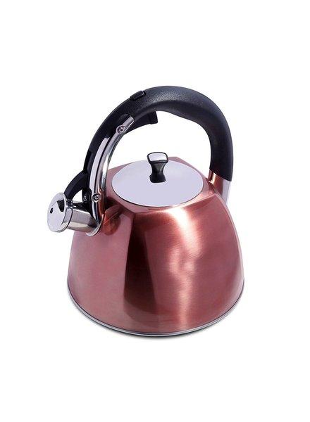 Tetera silbadora color cobre