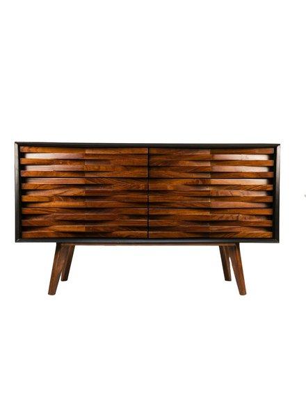 consola petatillo madera negra 1.4 x 50 x 90