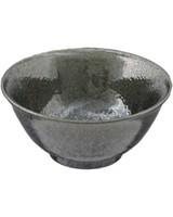 tazón japones negro con gotas 15 cm diámetro