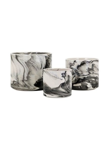 Maceta grande de ceramica  tipo marmol