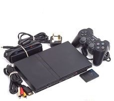 Original Sony Playstation 2 - Slim - PS2 Gaming System - Black