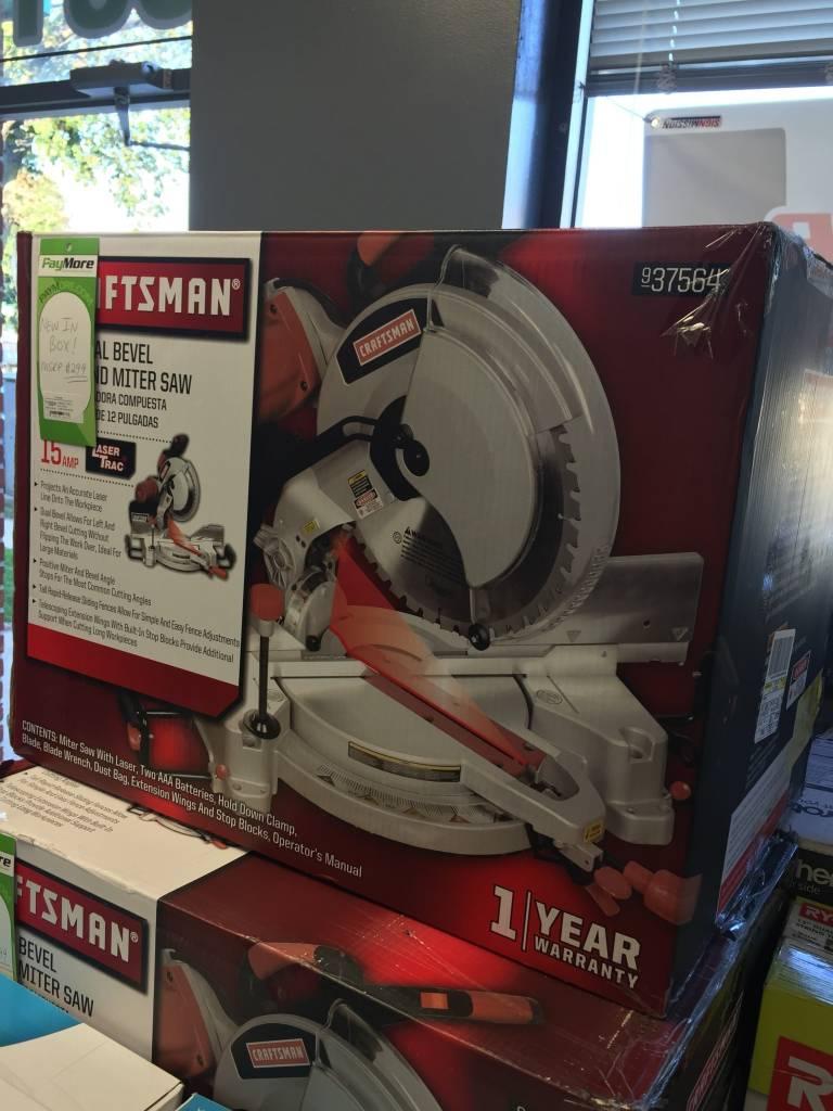 "New In Box - Craftsman 12"" Dual Bevel Compound Miter Saw"