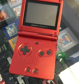 Nintendo Gameboy Advance SP - Red Orange - Console & Charger