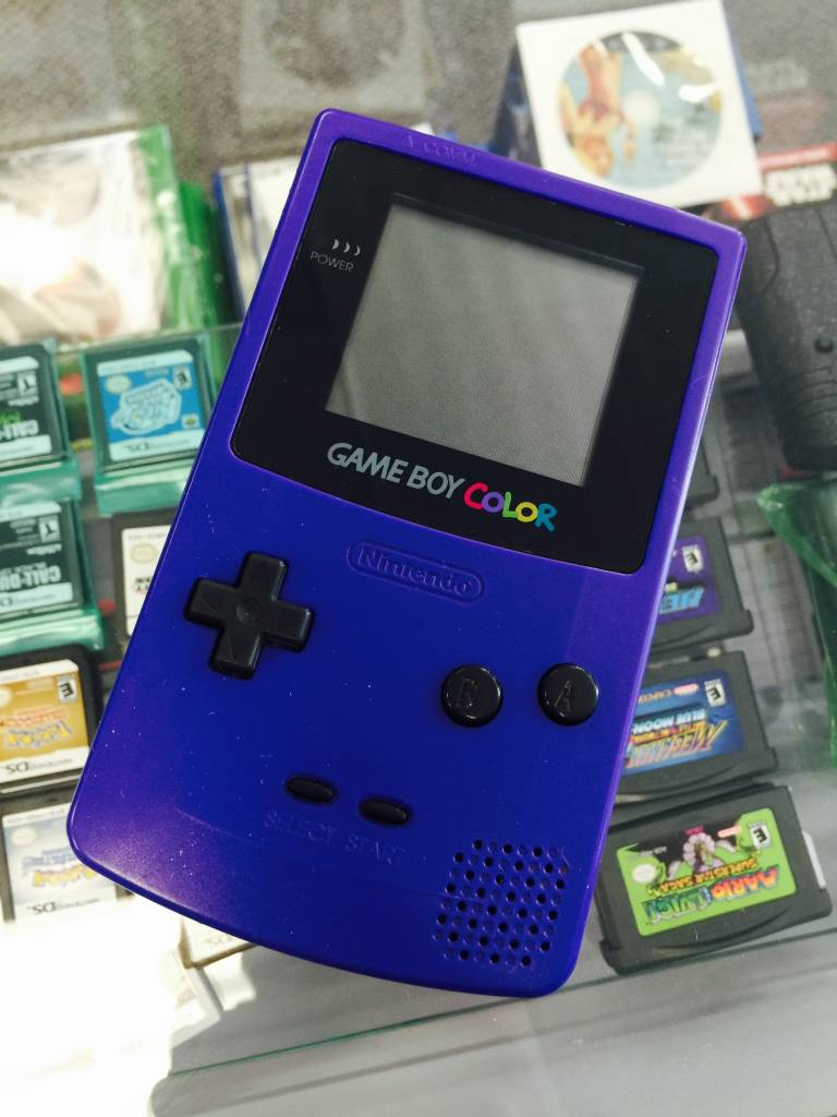 NINTENDO GAMEBOY COLOR - PURPLE - CGB-001 - HANDHELD SYSTEM ONLY