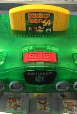 Nintendo Jungle Green Edition Console N64 w/Donkey Kong Bundle