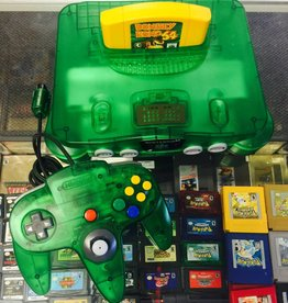 Mint Original Nintendo 64 N64 - Jungle Green Console Complete w/ Donkey Kong +Expansion PAK - Wow!!