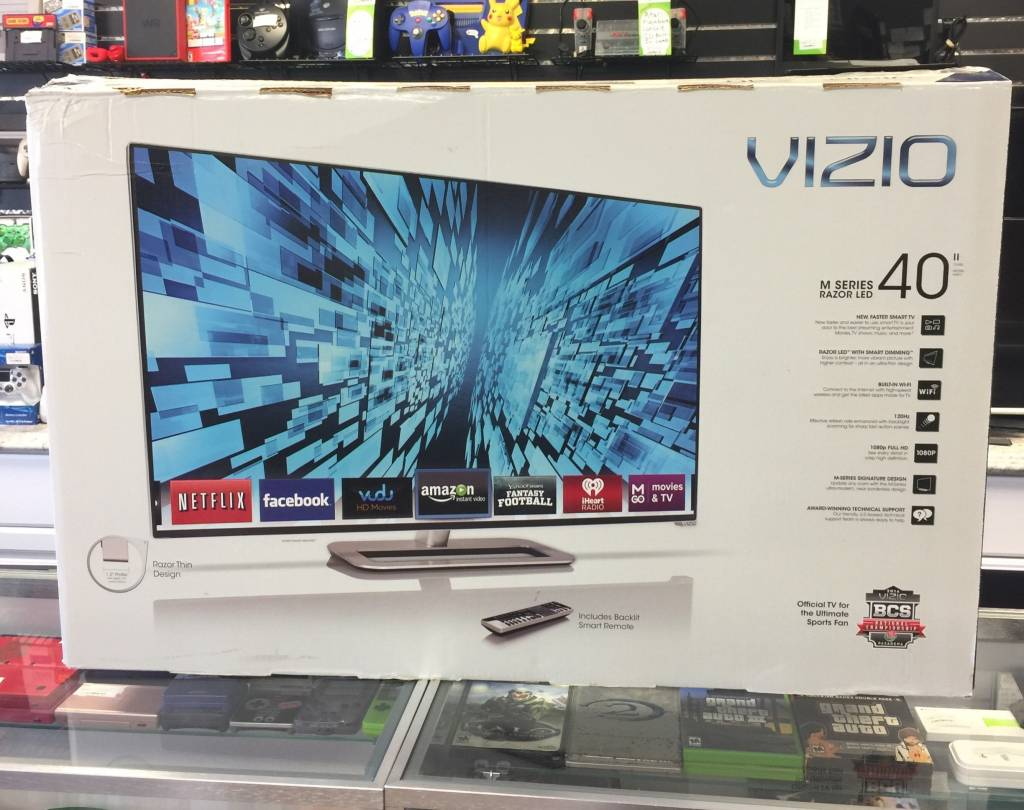 "Mint in Box - VIZIO M401i-A3 40"" 120Hz 1080p Smart LED TV w/ Remote & Stand!"