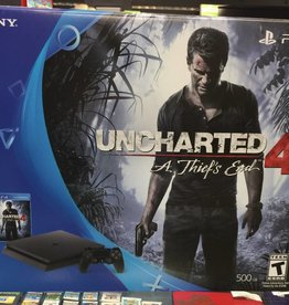 NEW IN BOX - Sony Playstation 4 SLIM PS4 - UNCHARTED 4 Edition - A Thief's End | Jet Black 500GB CUH-2015A