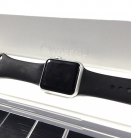 Apple Watch Series 7000 - 42mm - Silver Aluminum Case - Black M/L Band
