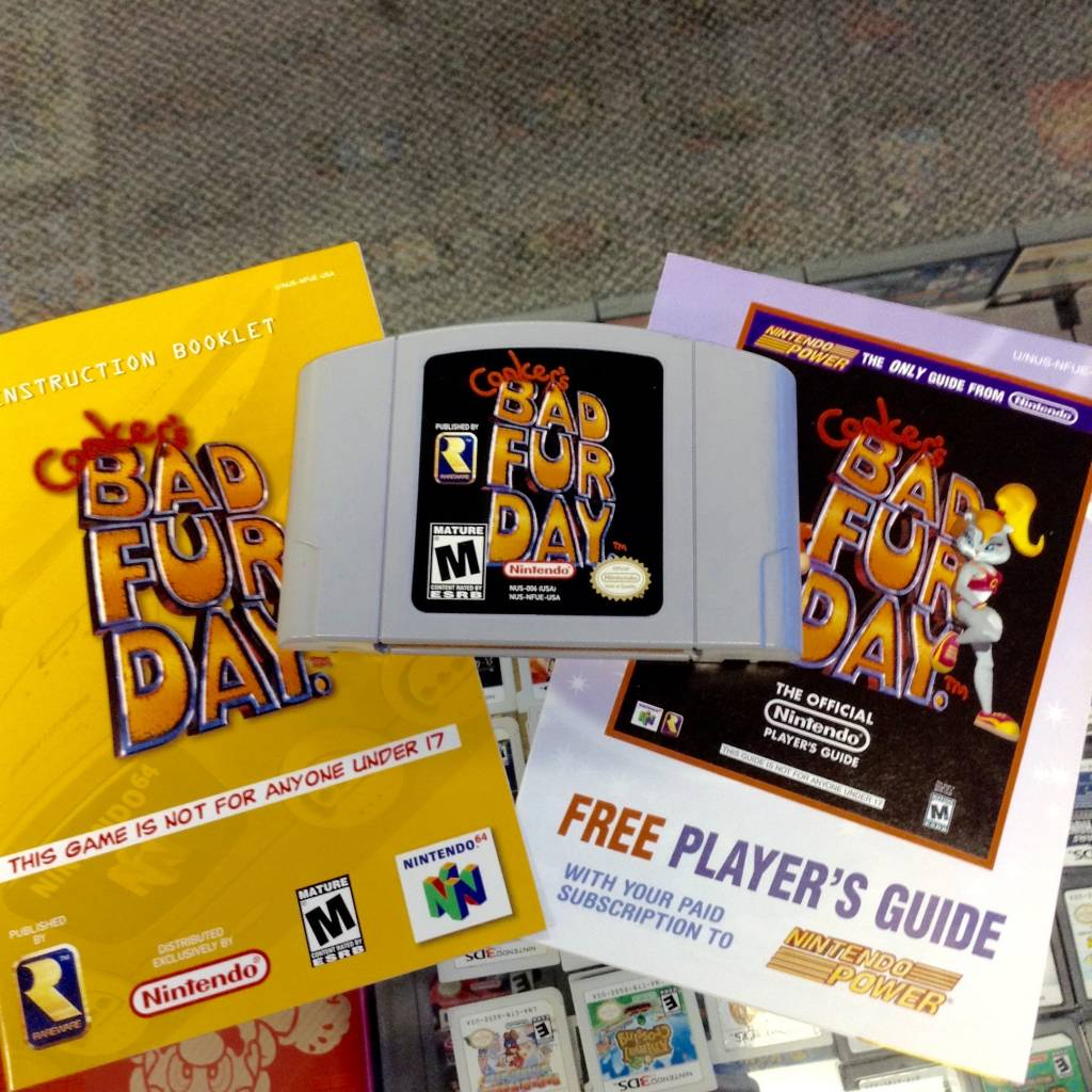 Conker's Bad Fur Day w/ Manual & Nintendo Power Insert - N64 -