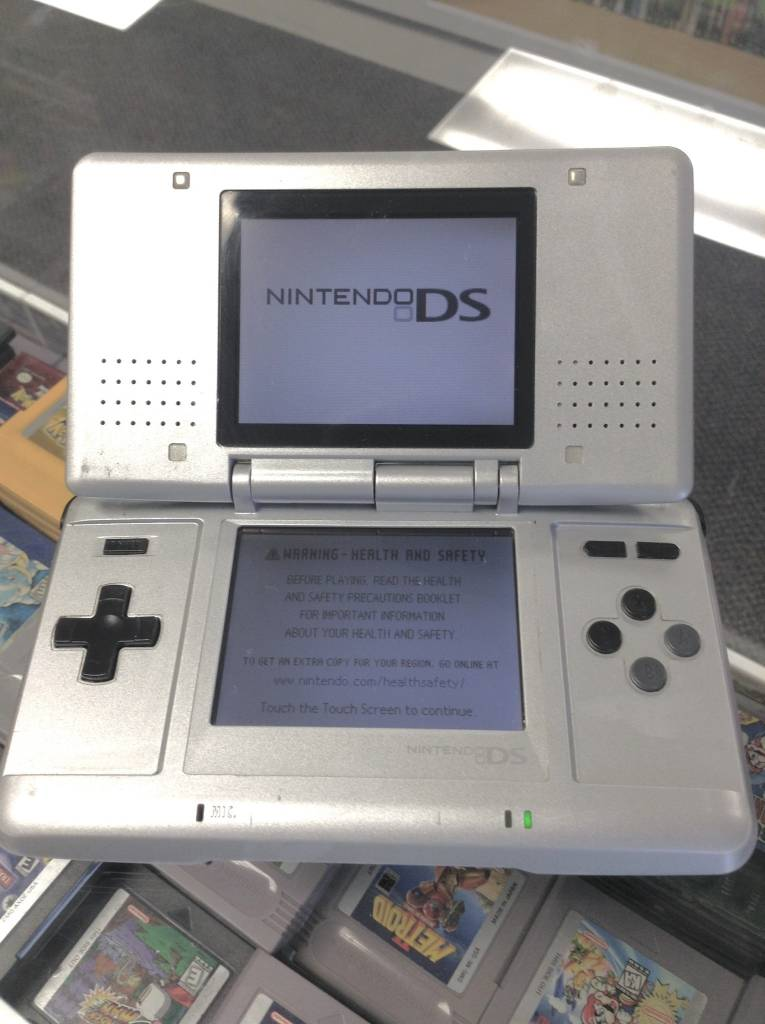Original Nintendo DS Console - NTR-001 - Gray - W/ Charger & Stylus