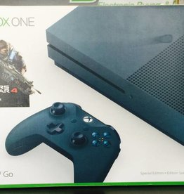 Microsoft Xbox One S Gears of War 4 Blue Special Edition 500GB Console - Mint in Box