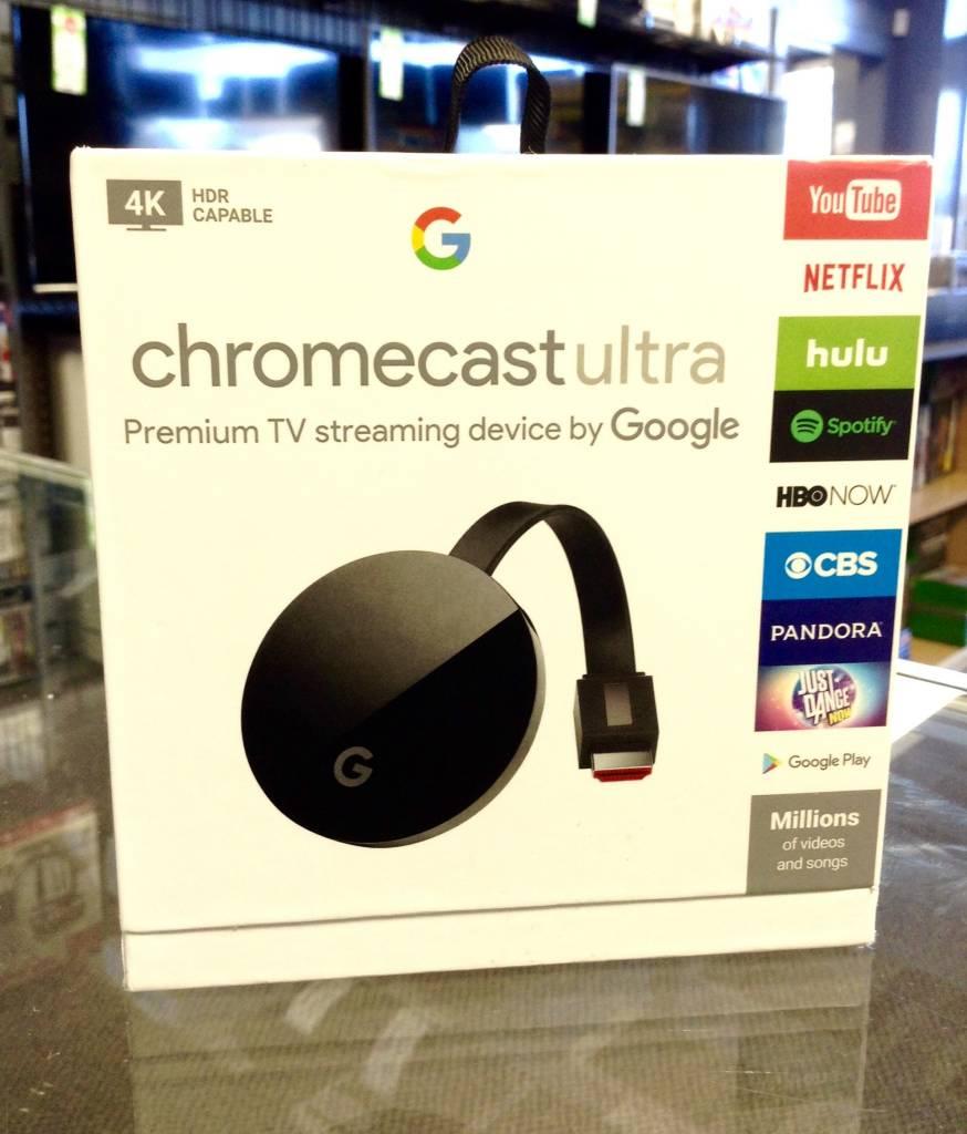 Google Chromecast Ultra - 4K TV Streamer - In Box