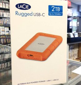 LaCie Rugged USB-C 2TB External Hard Drive - New
