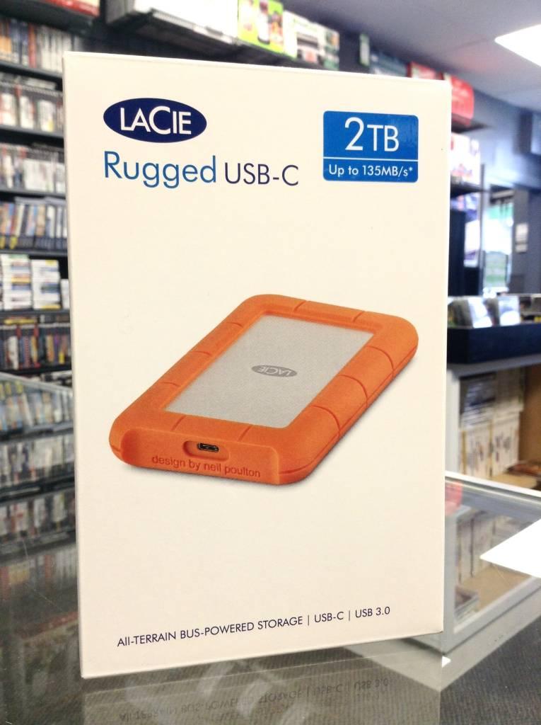 LaCie Rugged USB-C 2TB External Hard Drive - New