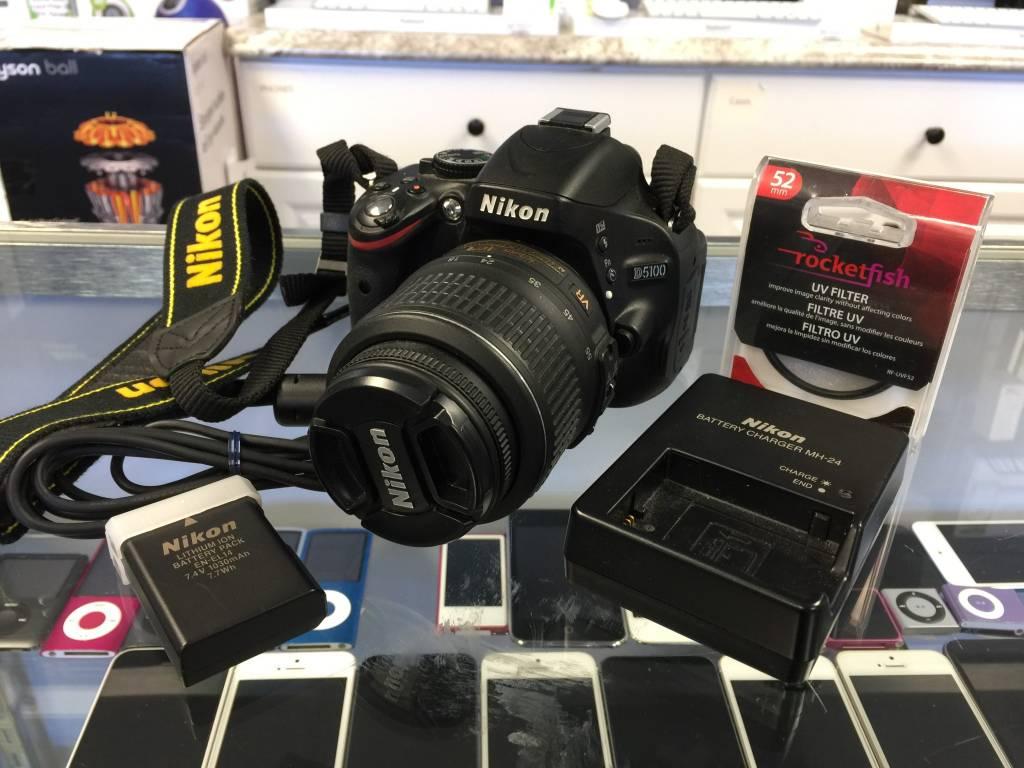 Nikon D5100 16.2MP Digital SLR Camera - Black (Kit w/ 18-55mm Lens)
