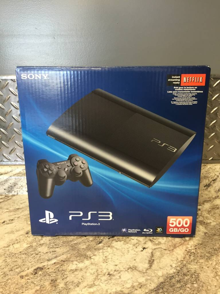 PlayStation 3 (PS3) Super Slim - 500 GB - Black - In Box