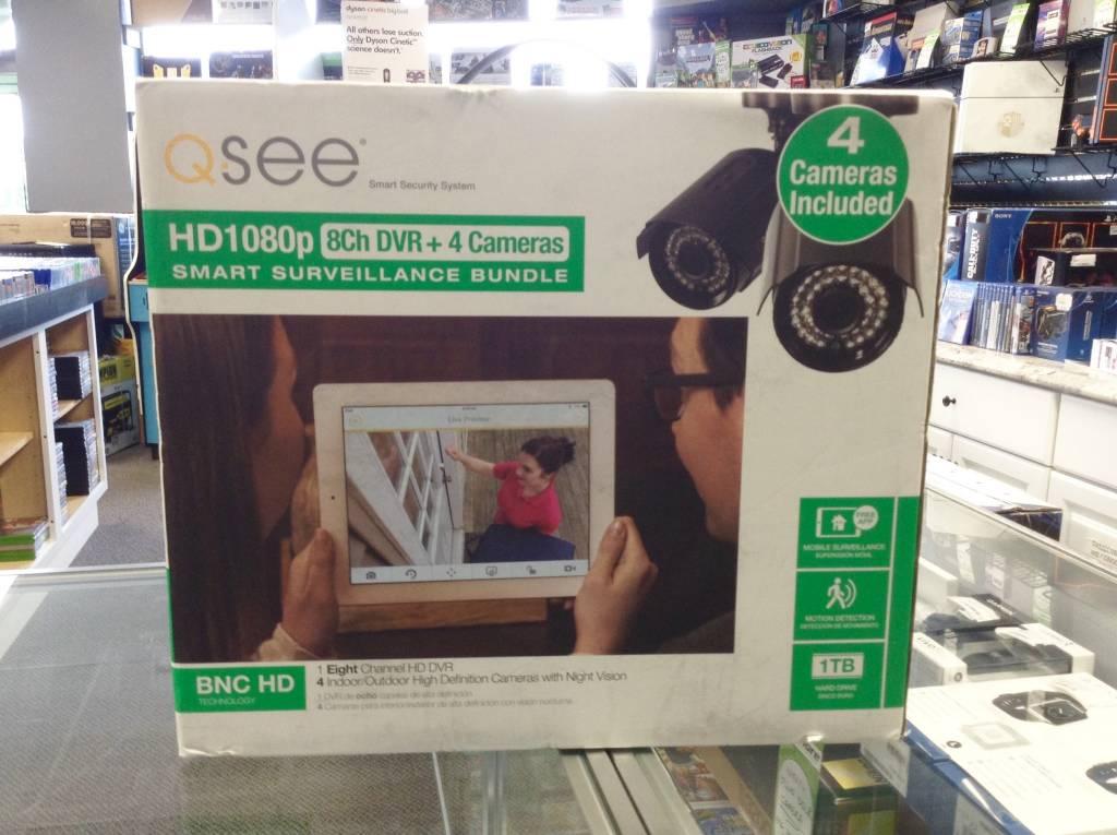 Q-See Q-See 8 Channel DVR & 4 HD Security Camera  Smart Surveillance Bundle - 1TB