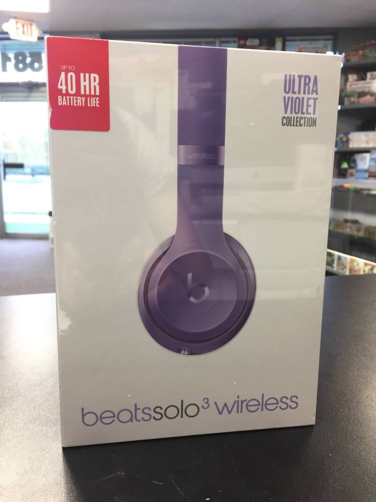 New In Box Sealed - Beats by Dre Solo 3 - Ultra Violet Edition - Wireless Headphones