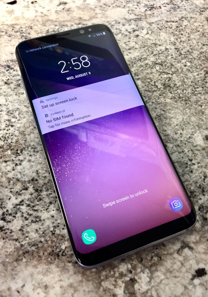 Verizon Only Samsung Galaxy S8 64gb Orchid Gray