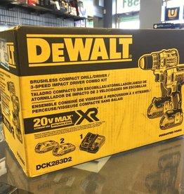 DeWalt 20-Volt Max XR Cordless Drill/Impact Driver Combo Kit - DCK283D2
