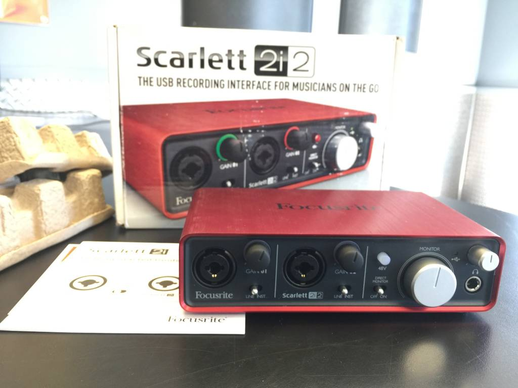 Focusrite Scarlett 2i2 USB Audio Interface LIKE NEW IN BOX
