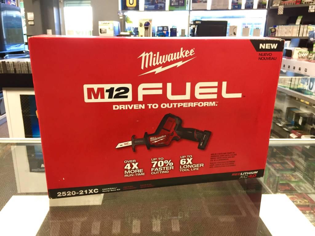 Milwaukee M12 Fuel Hackzall Reciprocating Saw Kit - 2520-21XC