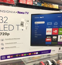 "Insignia 32"" Roku Smart TV - 720p - 60hz - Mint in Box"