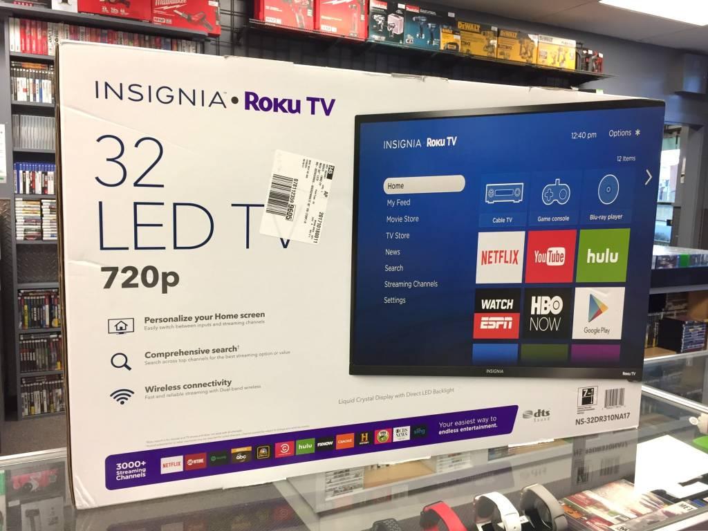 "Insignia 32"" Roku Smart TV - 720p - 60hz - Mint in Box"