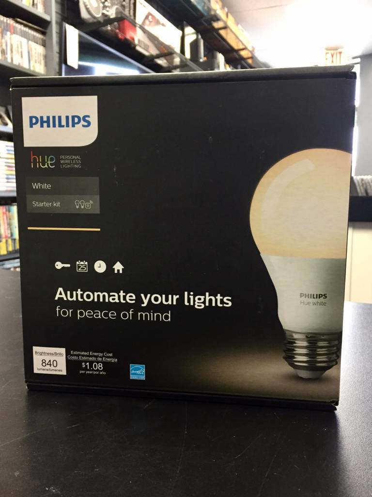 Phillips White Hue Smart Automated Home Lighting A19 Starter Kit