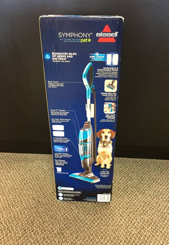 Bissell Symphony Pet All‑in‑One Vacuum and Steam Mop - 1543