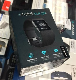 New - Fitbit Surge Large - Black - Large