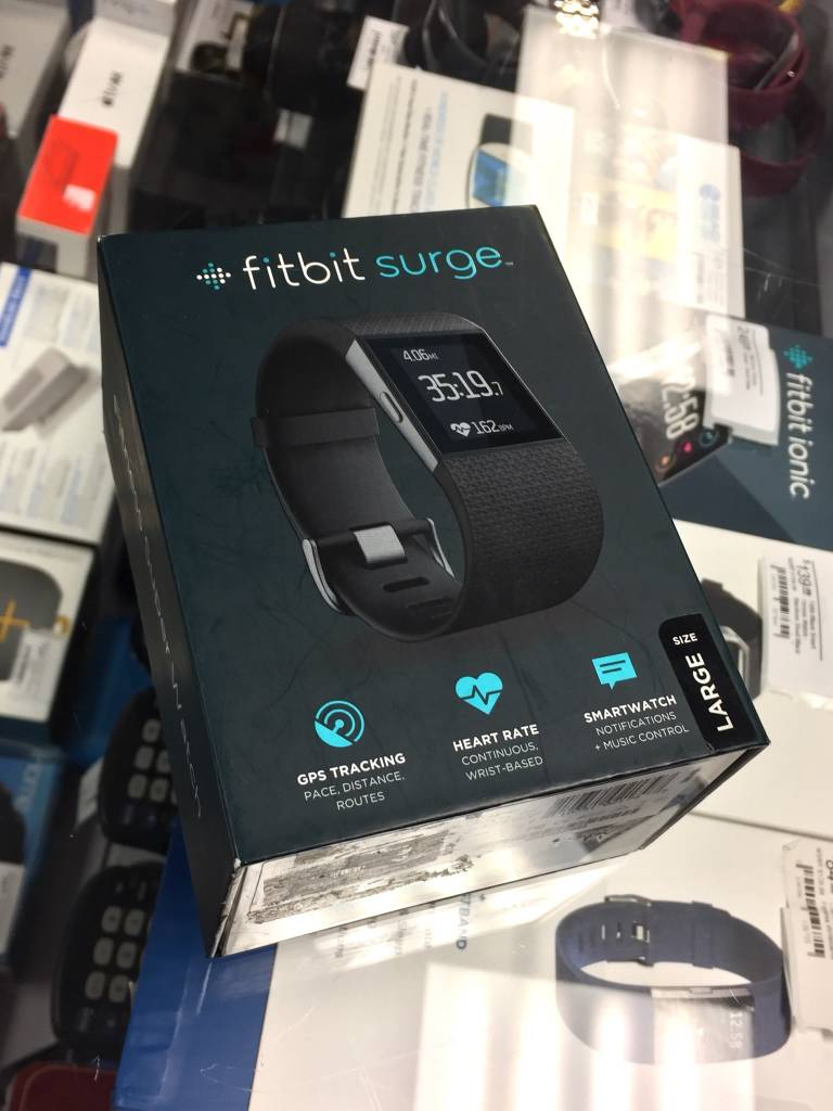 New - Fitbit Surge Large - Black - Large