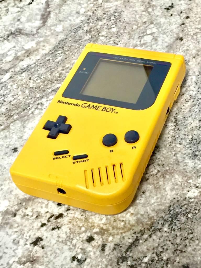 Original Nintendo Game Boy Handheld Console - Yellow - Play it Loud Edition