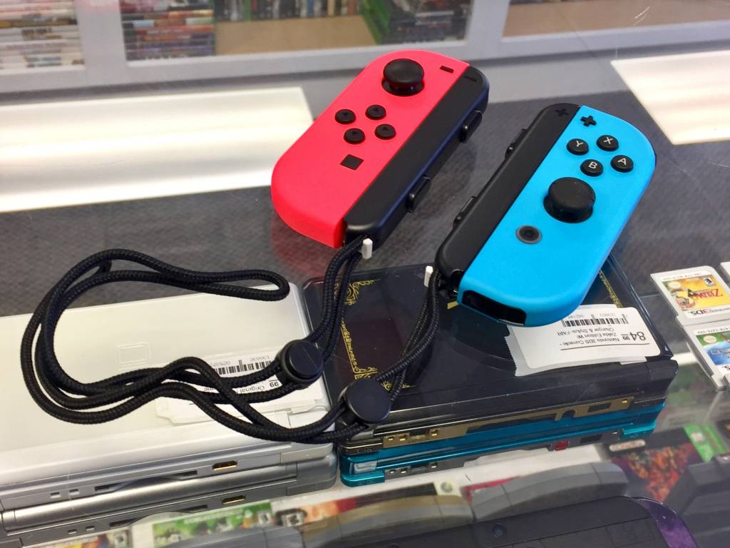Nintendo Switch JoyCon Controller Pair - Neon Red & Blue