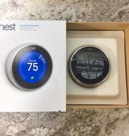 Used - Nest Thermostat - 3rd Gen. - Stainless Steel - T3007ES