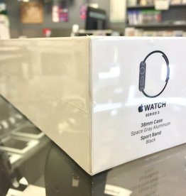 Factory Sealed - Wifi Only - Apple Watch Series 3 - 38mm - Black