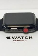 4G/GPS - Apple Watch Series 3 - 42mm - Stainless Steel Black - CIB