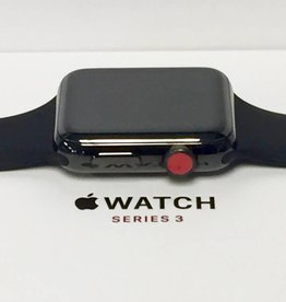 4G/GPS - Apple Watch Series 3 - 42mm - Stainless Steel Black - CIB