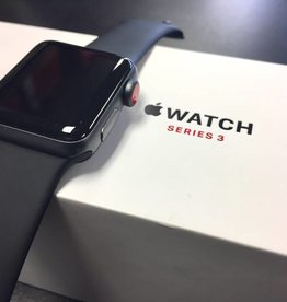 4G/GPS - Apple Watch Series 3 - 38mm - Black - CIB - Apple Care 2019