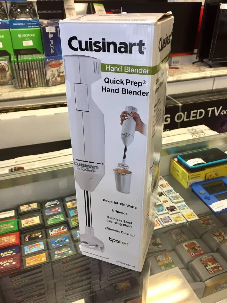Cuisinart Quick Prep Hand Blender - New Open Box - CSB-33