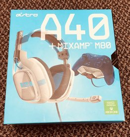 Astro A40 + MixAmp M80 Wired Headset - White / Blue -  Xbox One
