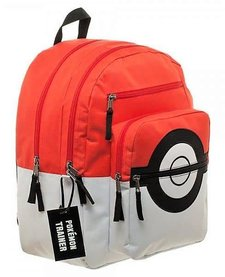 POKEBALL BACKPACK AND CHARM