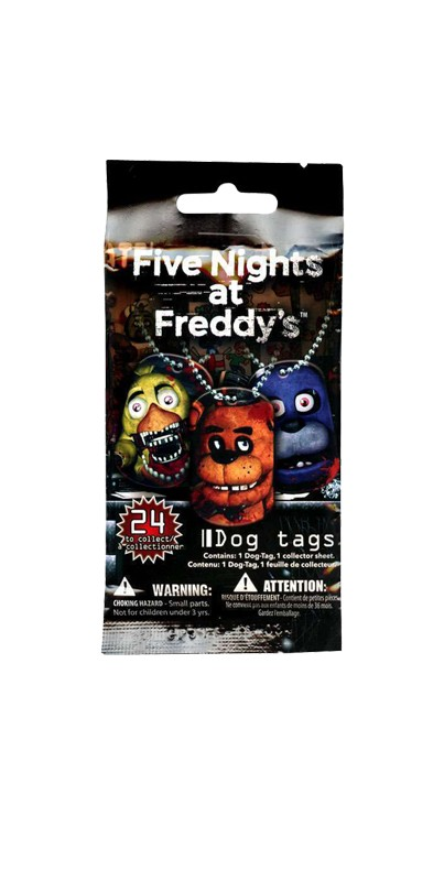 five nights at freddy s decal dog tags teddy n me