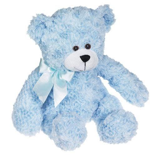 BARNABY TEDDY BEAR - BLUE - JUMBO