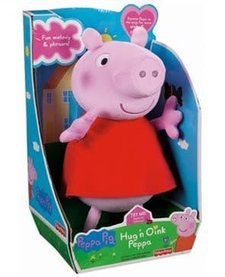 PEPPA PIG: HUG N OINK PEPPA PLUSH RED