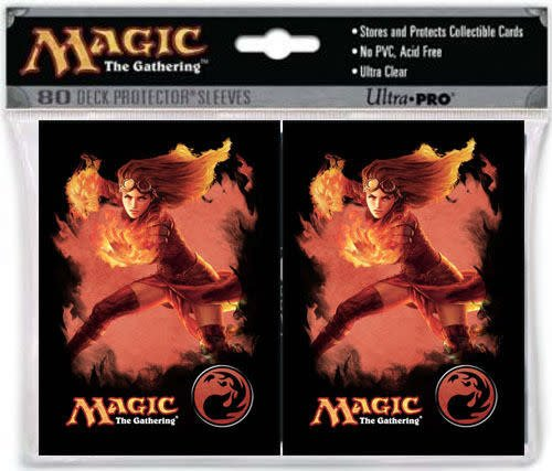 80 DECK PROTECTOR SLEEVES - CHANDRA FIRE