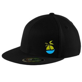 FlexFit FlexFit Flat Bill Cap BLACK