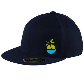FlexFit FlexFit Flat Bill Cap (Navy)