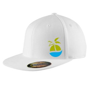 FlexFit FlexFit Flat Bill Cap WHITE